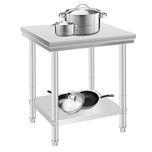 Oldriver 60x76x80cm tavolo da lavoro per cucina professionale acciaio inox cucina catering tavolo da lavoro per cucina in acciaio inox