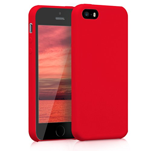kwmobile Apple iPhone SE / 5 / 5S Hülle - Handyhülle für Apple iPhone SE / 5 / 5S - Handy Case in Rot matt