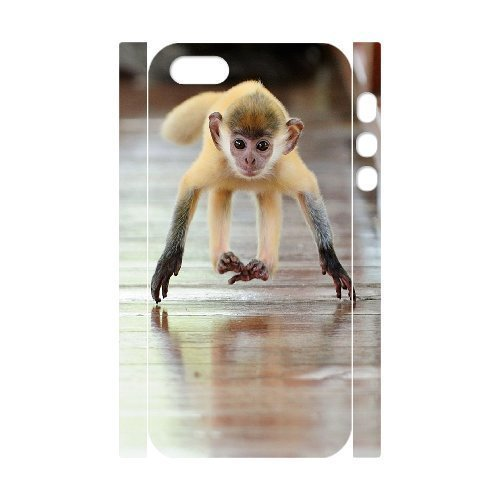 ALICASE Diy Customized Case Monkey 3D Case for iPhone 5,5S [Pattern-1]