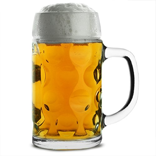 HomeBerry Beer Mug Beer Stein Beer Steins Beer Cup German Beer Stein with Lid Pewter Beer Stein 0.6L