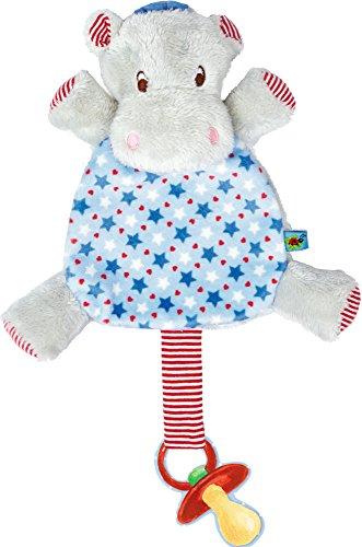Preisvergleich Produktbild Spiegelburg Serie Baby Glück Hipp, hipp, hippo! Nilpferd (Schnullertuch Hippo blau)