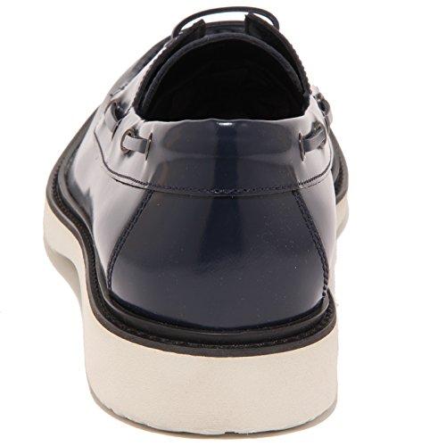 92117 mocassino HOGAN H 217 ROUTE MOD BARCA scarpa uomo loafer shoes men Blu
