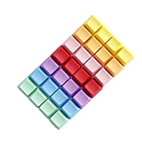Tutoy 4Pcs A Set Blank R1 R2 R3 R4 Multiple Color Pbt Thick Oem Profile Keycaps For Mechanical Keyboard - Purple