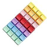 Tutoy 4Pcs Un Espacio En Blanco R1 R2 R3 R4 Color Múltiple Pbt Grueso Oem Perfil