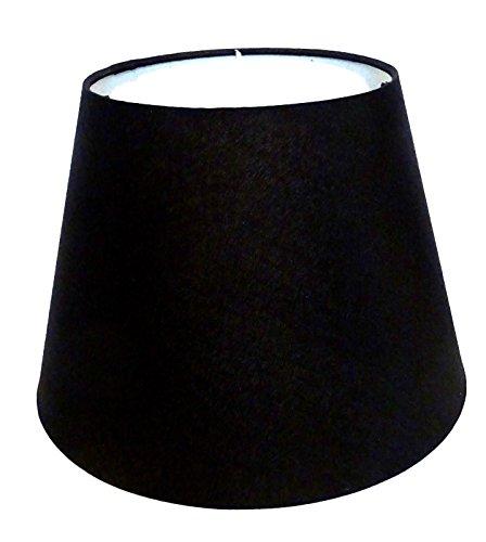 Lampenschirm/Schwarz/Stoff / E27 / Groß -