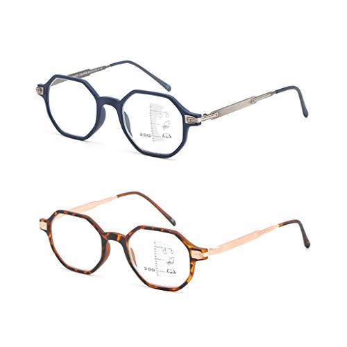 Axclg Reading glasses Sonnenbrillen/Lesebrillen Dual-Use, Schnalle Styly, Sekunden Wechsel zu Sonnenbrillen, Multi-Shaped Border, Automatische Zoom-Lesebrille, Unisex