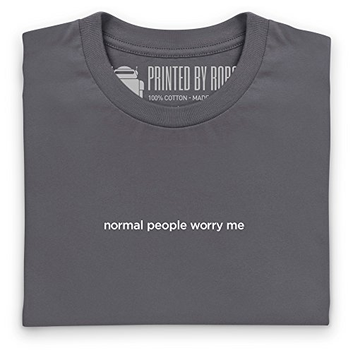 Normal People Worry Me T-Shirt, Herren Anthrazit
