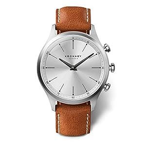 KRONABY SEKEL Connected Herren Uhren A1000-3125 eine traditionelle Uhr mit Smartwatch Funktionalitäten 41 mm Gehäusedurchmesser Saphirglas 100 M wasserdicht