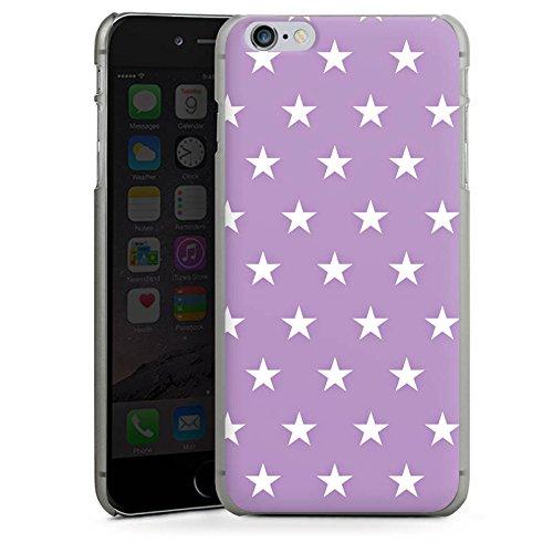 Apple iPhone X Silikon Hülle Case Schutzhülle Sterne Polka Flieder Hard Case anthrazit-klar