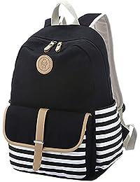 Greeniris femmes vintage sac à dos toile cartable pour fille collège