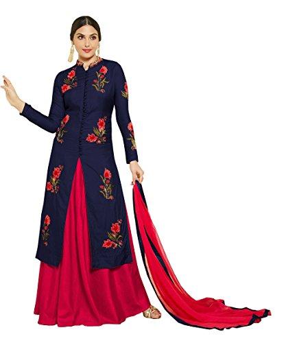 Crazy Women's Cotton Salwar Suit (Mastan2-Blue__Blue_Free Size)