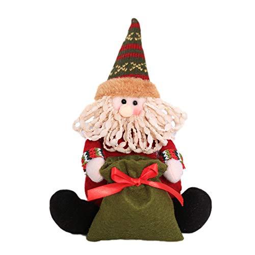 xMxDESiZ Weihnachten Santa Schneemann Elk Candy Bag Pen Vase Container Party Tabelle Puppe Decor Weihnachtsmann -