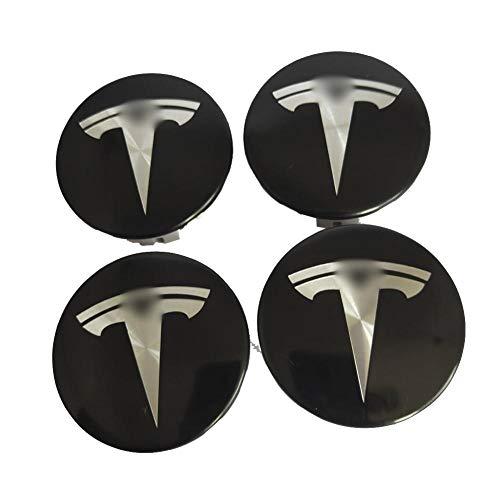 VERLOCO - Set di 4 copricerchi per Auto TSL Model S/X / 3, in Acciaio Inossidabile, con Stemma dei mozzi di Ruota TSL
