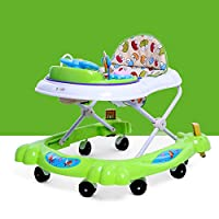 BBYYOP Foldable Baby Walker with Brake Stroller Walker with Toy And Putter Height Adjustment And Plate Mute Wheel Prevent O-Leg,D