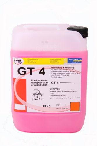Gewerbliche Vier (GT 4 - saurer Klarspüler für gewerbliche Spülmaschinen - 10 Liter - 1 Kanister)
