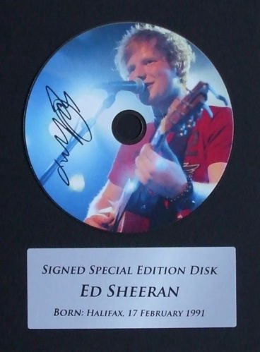 ED SHEERAN SIGNED CD PRINT CH