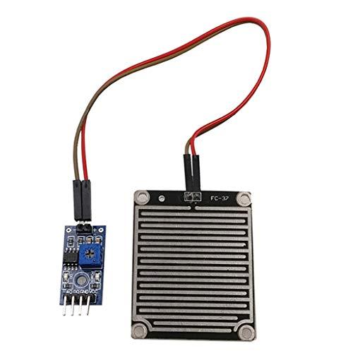 perfk Regensensor Modul Empfindlichkeit Wetter Modul Regentropfenplatine für Arduino