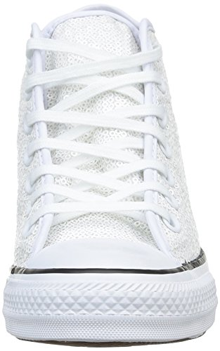 Converse, All Star Mid Lux Sequins, Sneaker, Donna Op.White Sequins