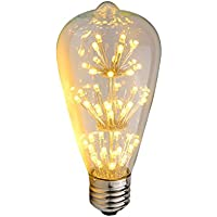 Lampadine LED Vintage, WONFAST ST64 3W Dimmerabili