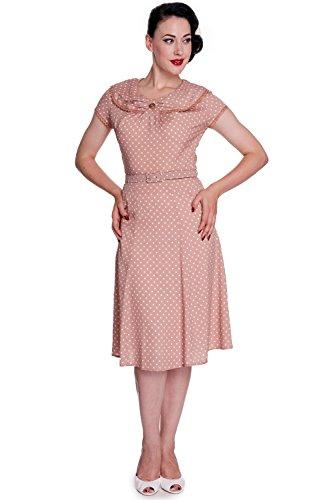 Hell Bunny-40S Ingrid Guerra tè Vestito Rosa Latte 48 (XL)