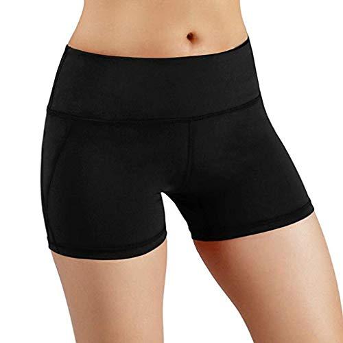Große Hohe Activewear (YiYLunneo Shorts Damen Yogahose Hohe Taille Elastizität Tight Atmungsaktive Schnell Trocknend Frauen Laufhose Sicherheitshosen Sport-hose Jogginghose)