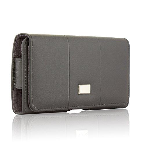 BRALEXX Elegante Gürteltasche Quertasche Case Hülle Bookstyle-Tasche mit Gürtelbefestigung für Huawei Mate 10 / Mate 10 LITE/Mate 10 PRO/Honor 10 Lite Dual-SIM, SCHWARZ