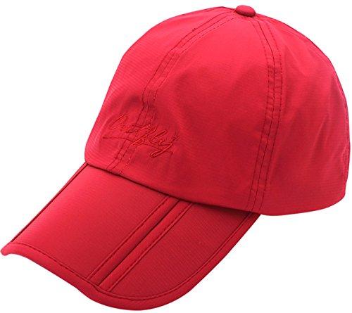 Outfly Gorro de Verano para Hombre Ligero Gorra de Golf para Mujer Hombre Gorro Seca Rápido Gorro Deportivo Running Cap Sombrero - Rojo