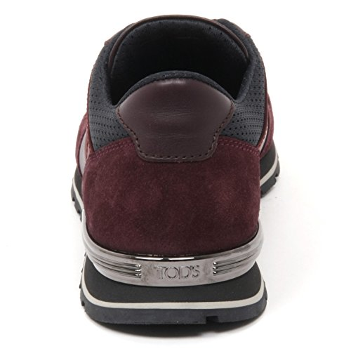 B9740 sneaker uomo TOD'S scarpa new spoiler bordeaux shoe man Bordeaux