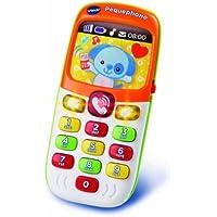 VTech TELEFONO PEQUEPHONE con Luces, Sonidos, 8 MELODIAS Y 2 Canciones BILINGÜE, (