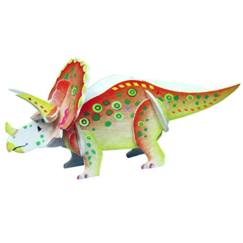 WOODEN DINOSAUR 3D MODEL KIT (Craft Kit) (Model Dinosaur Kit)