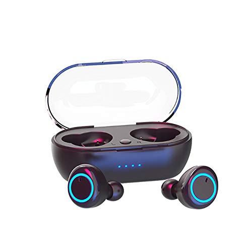 CMXX Mini-Bluetooth-Ohrhörer Mit Strong Bluetooth 5.0, IPX7 wasserdichte Stereoanlage In-Ear-Kopfhörer Eingebautes Mikrofon-Headset Mit Magnetischem Ladefach USB-Ladekabel