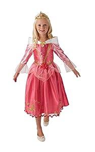 Princesas Disney - Disfraz de Bella Durmiente Deluxe para niña, infantil 7-8 años (Rubie