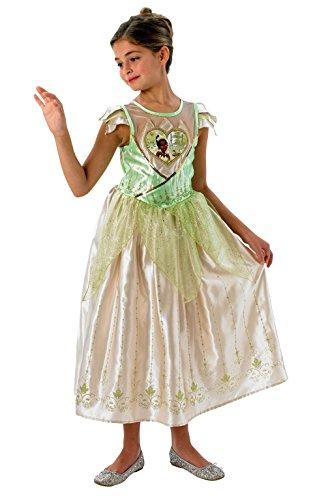 Rubie's Disney Prinzessin Tiana Kinderkostüm Lizenzware grün-Gold 140 (9-10 Jahre)