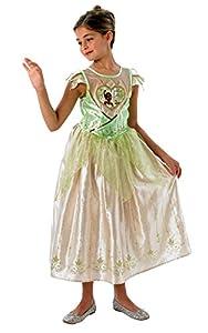 Rubies - Disfraz oficial de Tiana, para niñas de 9 a 10 años.