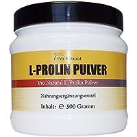 L-Prolin 500g , 100% reines Pulver ( von der Menge wie 1000 L-Proline 500mg Kapseln ) preisvergleich bei fajdalomcsillapitas.eu