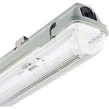 Pantalla Estanca para un Tubo de LED 600mm PC/PC Conexión un Lateral efectoLED