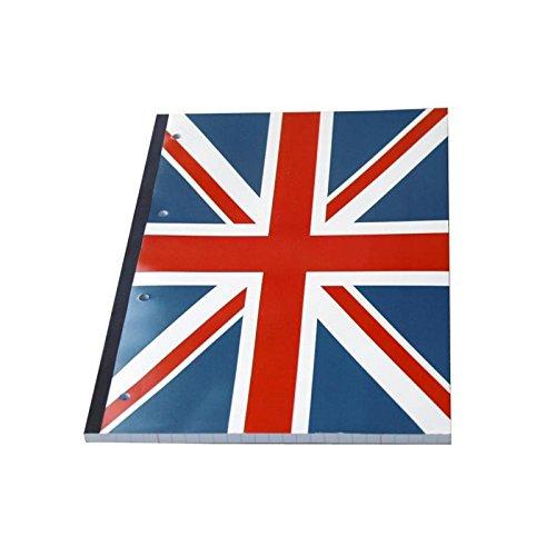 CLEMENTINA FROG Bloc notes Union Jack + Feuilles lignées détachables Séyes - Format 21x29,7 cm