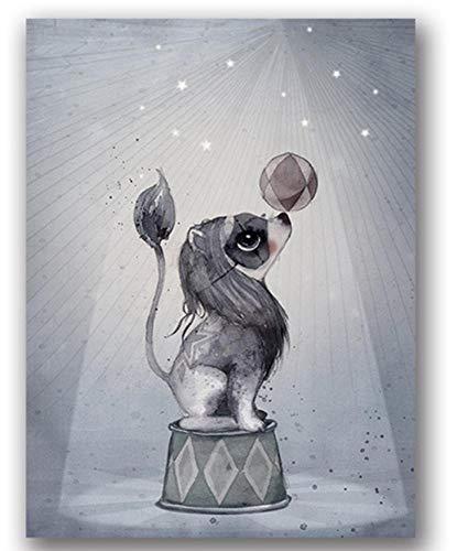 Poster Kaninchen Mädchen Engel Cartoon Leinwand Malerei Spray Farbe Kunst Poster Kinder Baby Kinderzimmer Dekor J 40x60cm (Spray-farbe Kunst)