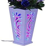GS/Wooden Designed Vase/Wooden Flower Pot /, Flower Pot/Flower Vase/Home Decor Items/Pot Led Light Flower Pot