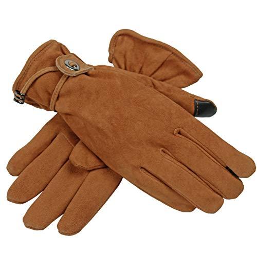 LIBINFAN Warmer Winter-Handschuh-starker Touch Screen Damen-Winter-Mode-Handschuhe (Farbe : Braun)