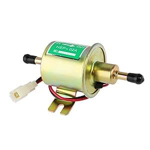 VORCOOL Pompe à carburant électrique 12V voiture essence solide métal Heavy Duty (argent)