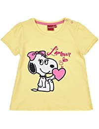 Snoopy Babies Girls Short Sleeve T-Shirt - Yellow