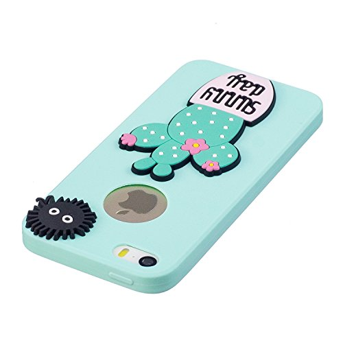 iPhone 5S Hülle, Voguecase Silikon Schutzhülle / Case / Cover / Hülle / TPU Gel Skin für Apple iPhone 5 5G 5S SE(Süßigkeit Silikon-Gläser Mädchen) + Gratis Universal Eingabestift Süßigkeit Silikon-sunny day