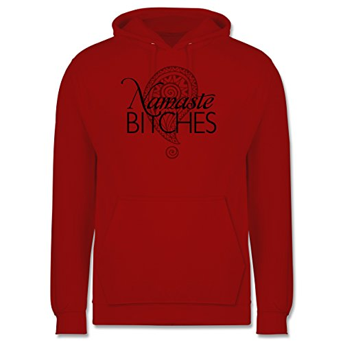 Wellness, Yoga & Co. - Namaste BITCHES - Männer Premium Kapuzenpullover /  Hoodie Rot