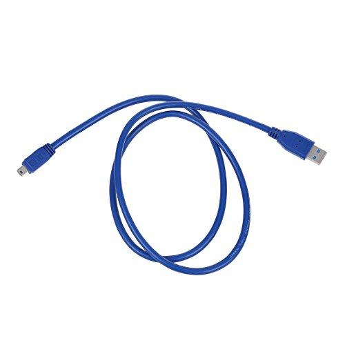 Cikuso Blau Hohe Geschwindigkeit USB 3.0 Typ A Stecker auf Mini-B 10 Pin-Maennlicher Adapter-Kabel-Schnur Blau Usb Mini