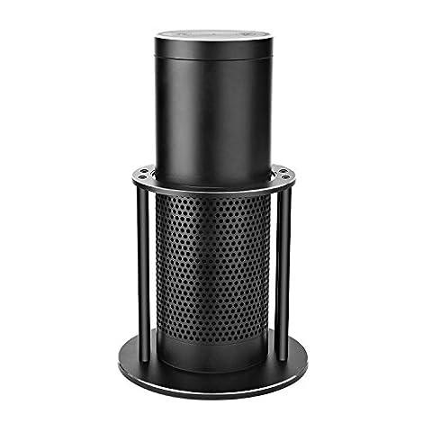 GVDV Alexa Echo Stand - Aluminum Speaker Stand for Amazon Echo Alexa Dot, UE Boom, Protect and Stabilize Speaker Rack (Black)