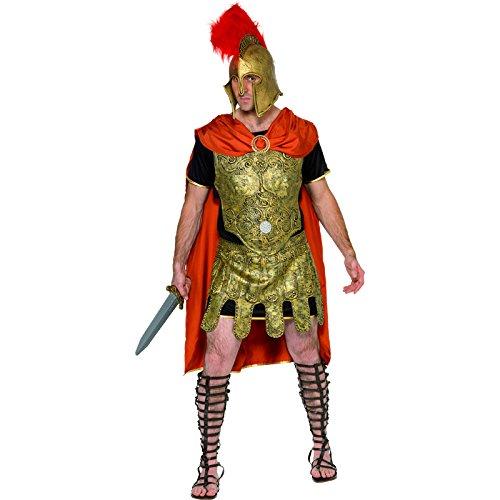 Kostüm Brustplatte (Smiffys, Herren Römischer Soldat Kostüm, Umhang, Tunika, Brustplatte und Rock, Größe: M,)