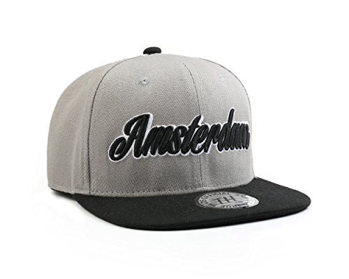 Preisvergleich Produktbild True Heads Amsterdam Baseballkappe,  Snapback,  Unisex,  Grau / Schwarz