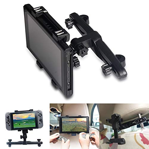 Jinxuny Auto-Kopfstütze-Tablet-Halterung Halter einstellbar Auto-Kopfstütze Stehen kompatibel mit Nintendo Switch Konsole Fahrzeugzubehör