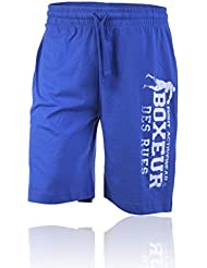 BOXEUR DES RUES Serie Fight Activewear, Pantaloncini Uomo, Royal, L